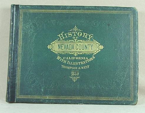 251: Thompson History of Nevada County California 1880