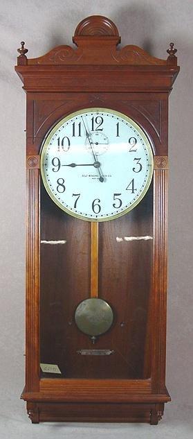 321A: WALL REGULATOR CLOCK SELF WINDING CLOCK CO.