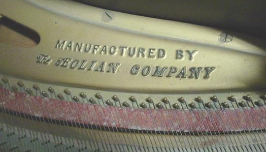 499A: BABY GRAND PIANO AEOLIAN Retailed by STUYVESANT - 3