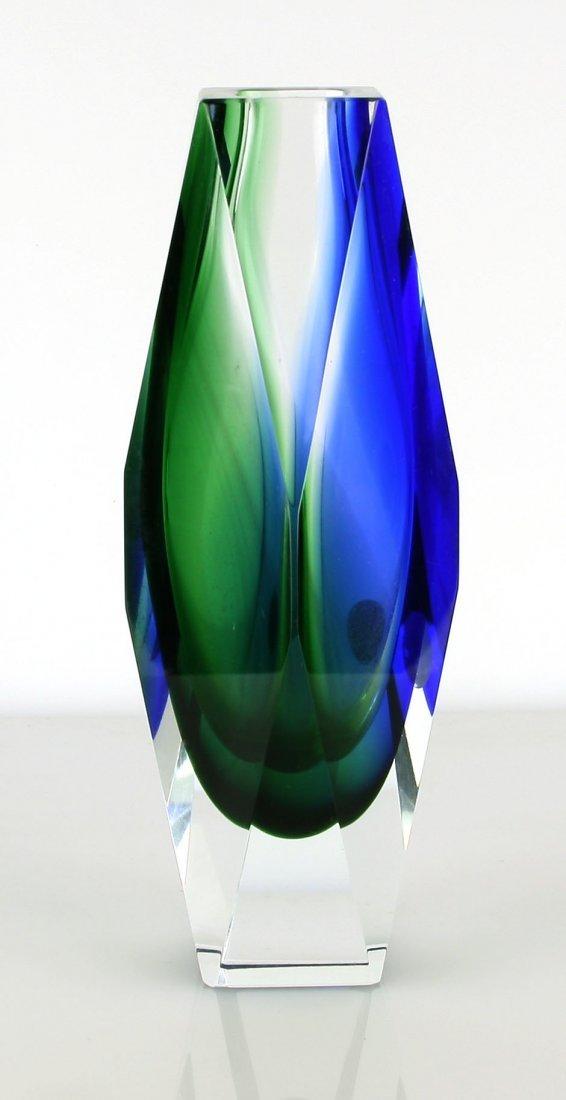 """Rare Bucella Cristalli 8"""" Mid Century Vase - Murano,"""