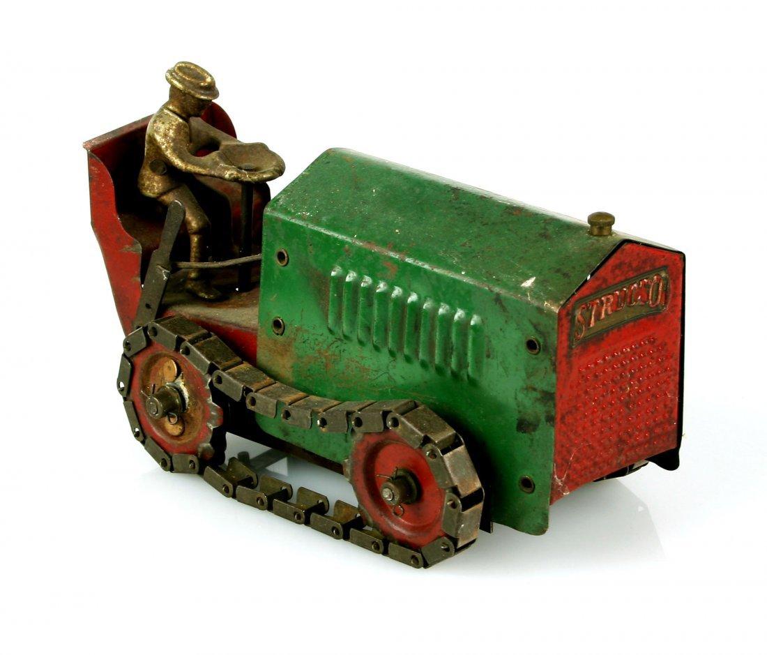 VINTAGE 1920 Structo Steel Caterpillar Tractor Toy