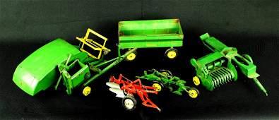 Assortment of Vintage Toy John Deere Farm Implements