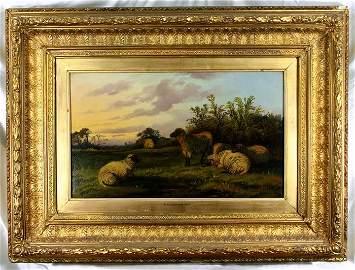 Thomas Sidney Cooper (English 1803-1902) Beautiful Oil