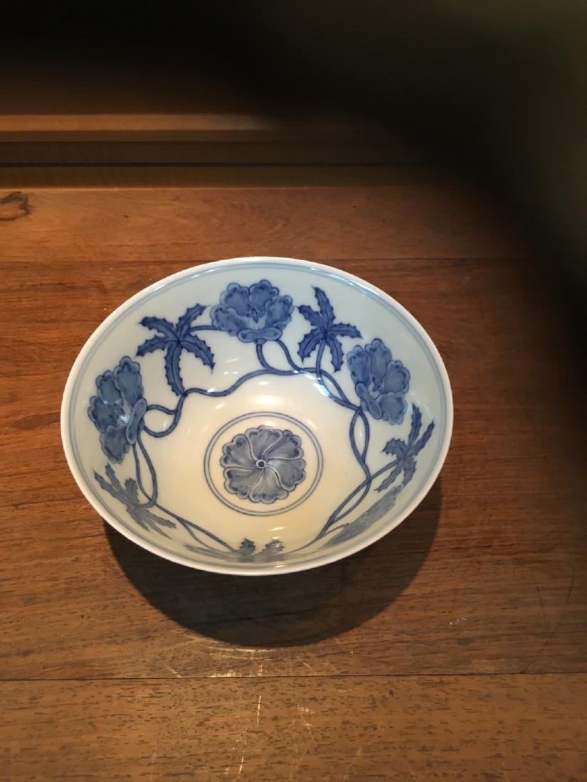 The Ming Dynasty Chenghua kiln blue and white bowl