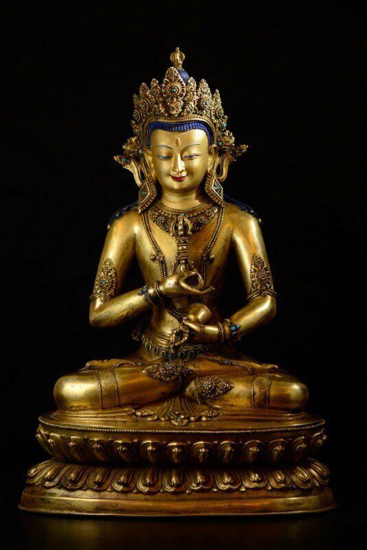 Ming Dynasty Yongle gilt bronze Buddha statue