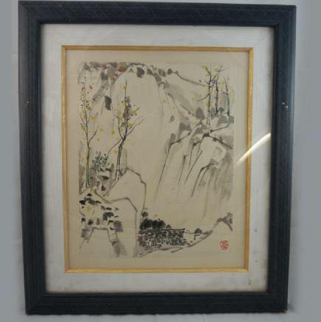 Wu Guanzhong ink painting