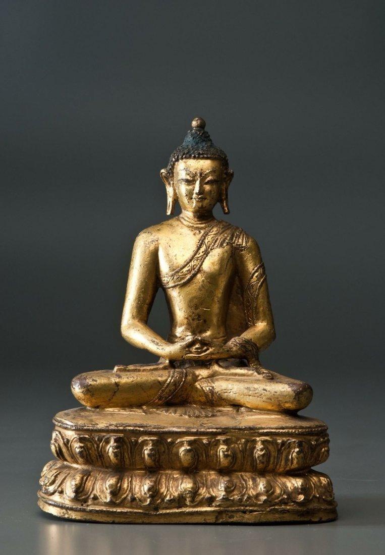 Yuan Dynasty Tibetan bronze Buddha