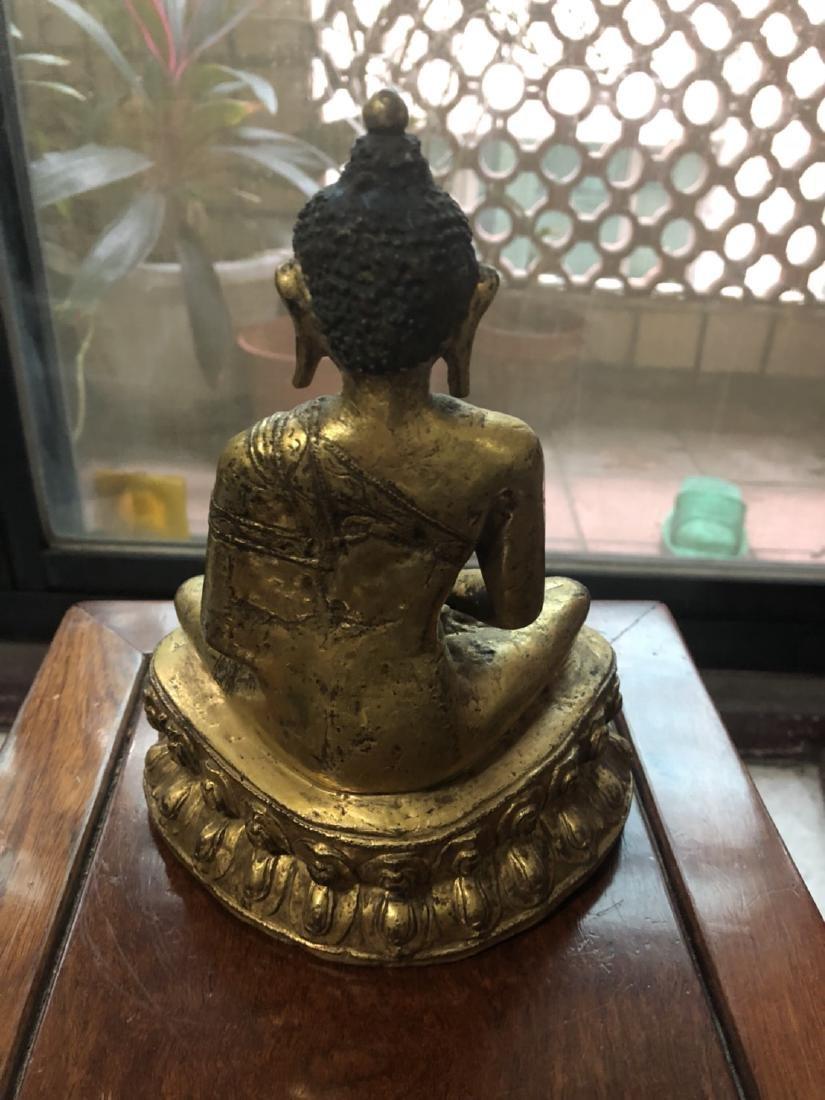 Yuan Dynasty Tibetan bronze Buddha - 4