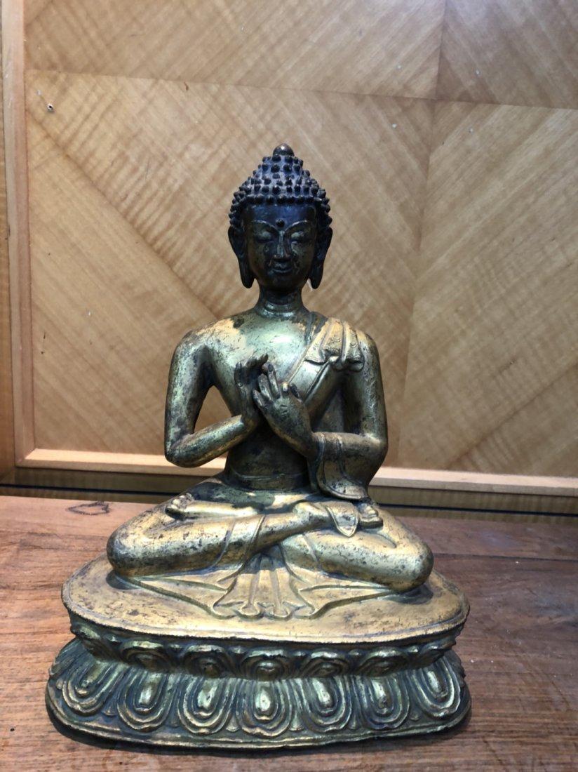 Yuan Tibetan gold gilt Buddha