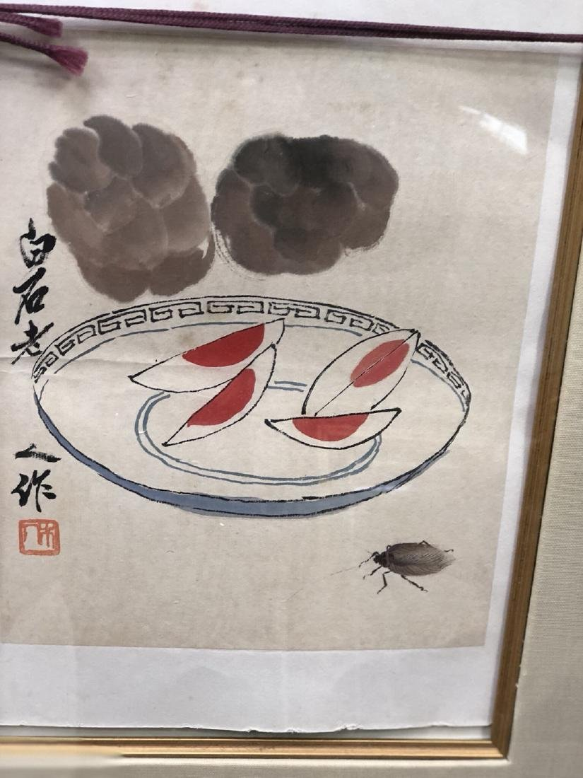 Qi Baishi painting cockroaches want to eat preserved