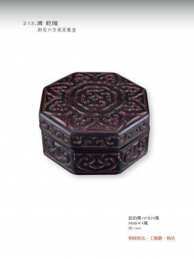 Qing, A Qianlong Tick Rhino Print Cartidage.
