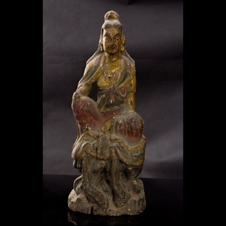 The Song Dynasty wood carving and color free