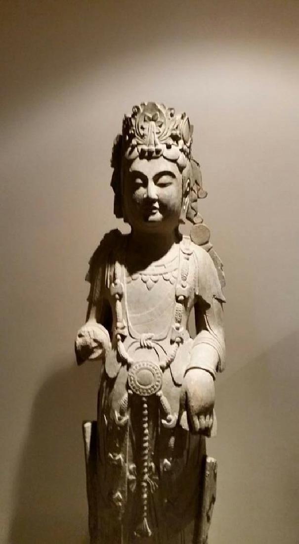 Wei Qi to Qingzhou stone Buddha statue