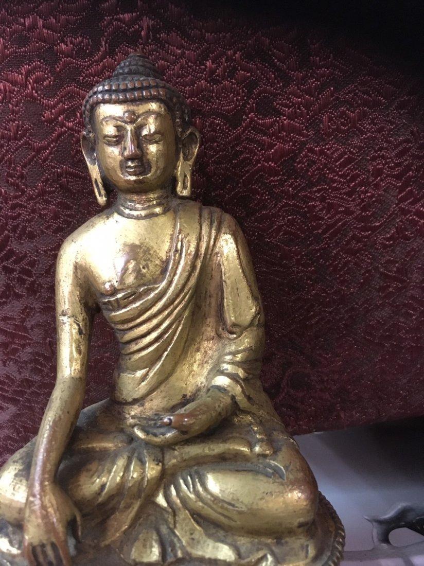 14th century Ming Dynasty gilt bronze Buddha