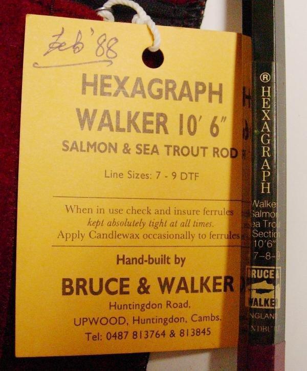 1020: BRUCE & WALKER - HEXAGRAPH CARBON FIBRE SALMON