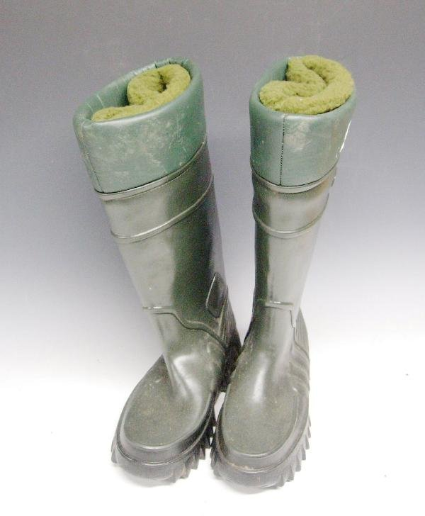1176: DERRI BOOTS - INSULATED WELLINGTON BOOTS, GREEN,