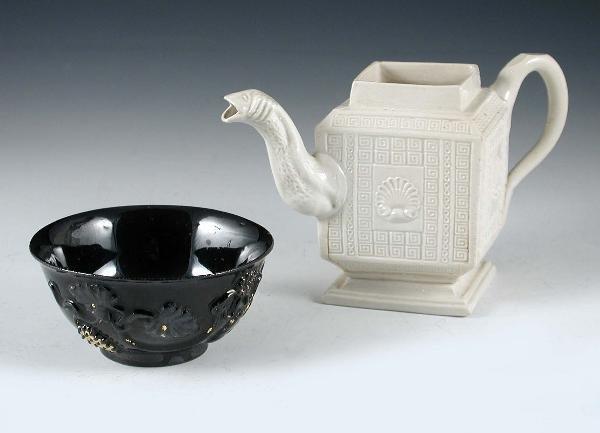 2: A JACKFIELD TEA BOWL + SALTGLAZE TEA POT