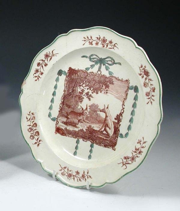 9: AN AESOP'S FABLE CREAMWARE PLATE