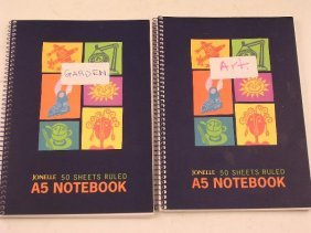 TWO A5 SPIRAL BOUND NOTEBOOKS