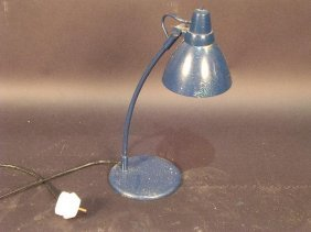 677: A MODERN DESK LAMP, PAINTED BY 'SYD'