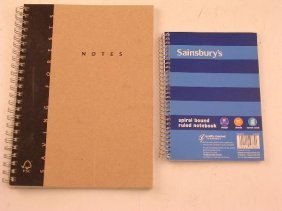 683: AN A5 SPIRAL BOUND NOTEBOOK AND ANOTHER SMALLER