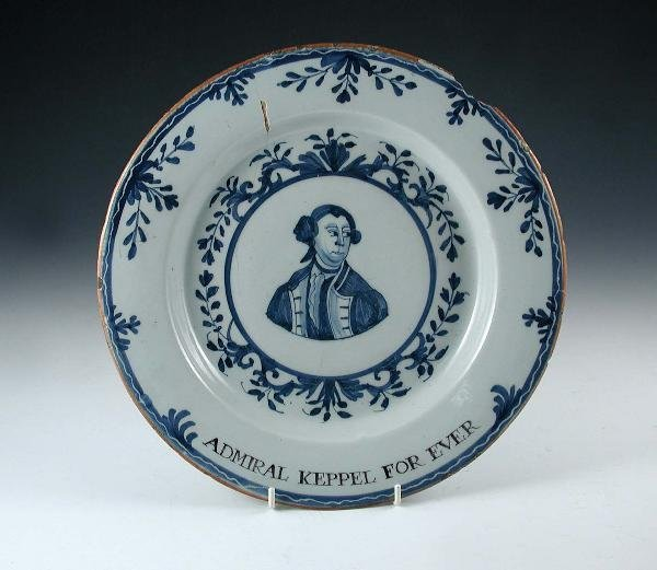 1: AN 18TH CENTURY DELFT PLATE