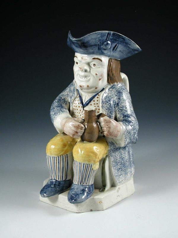 12: A  PEARLWARE TOBY JUG