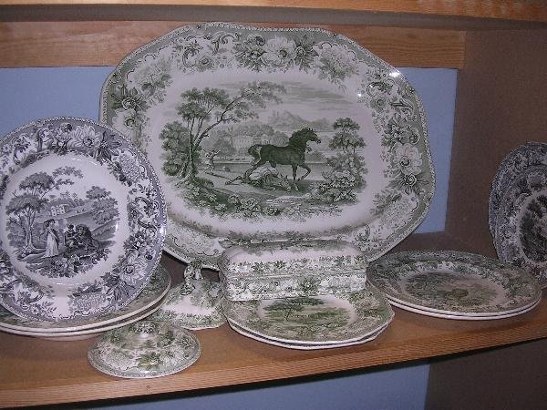 15: A COLLECTION OF SPODE PRINTED WARES