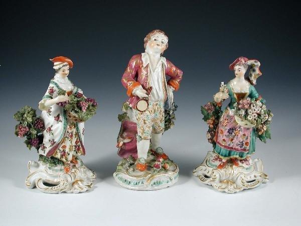 28: TWO 18TH CENTURY DERBY FLOWER LADIES