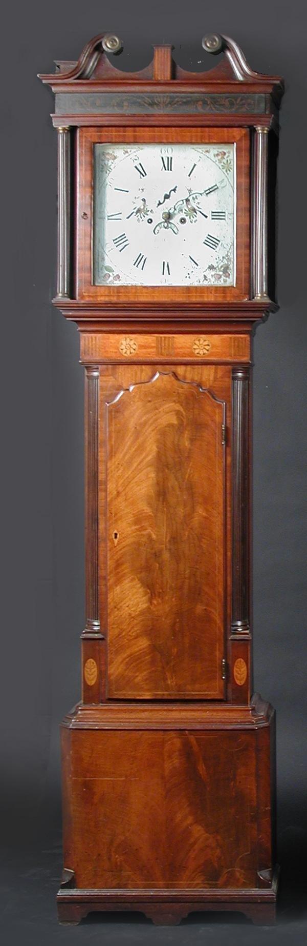 655: JOHN WIGNALL, ORMSKIRK, A MAHOGANY LONGCASE CLOCK