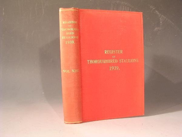 1003: TWELVE VOLS OF THE REGISTER OF THOROUGHBRED