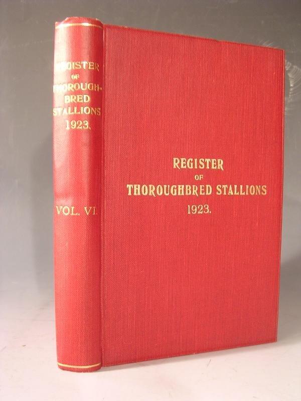 1004: TWENTY FOUR  VOLS THE REGISTER OF THOROUGHBRED