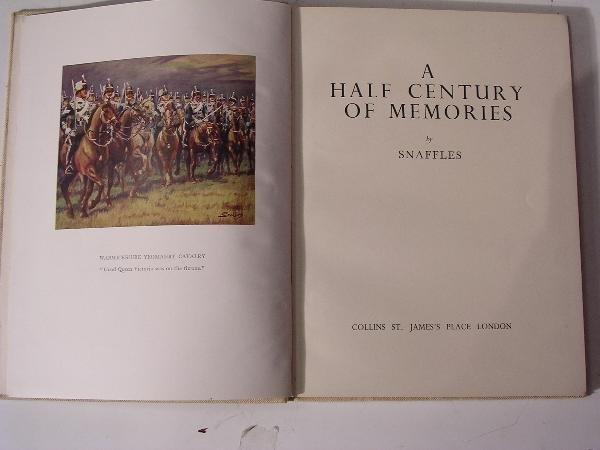1024: SNAFFLES HALF A CENTURY OF MEMORIES, 1949 1ST ED.