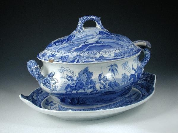 11: SPODE TUREEN, COVER AND STAND