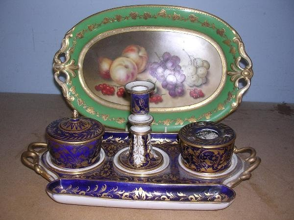 18: AN INKSTAND AND DISH