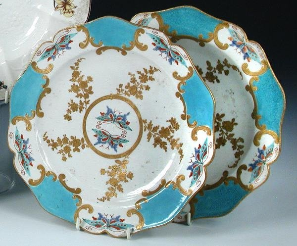 22: A PAIR OF 'GOLD ANCHOR' CHELSEA PLATES, EACH