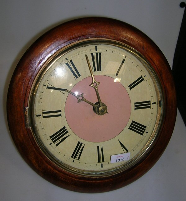 1016: A 19TH CENTURY BLACK FOREST TYPE WALL CLOCK