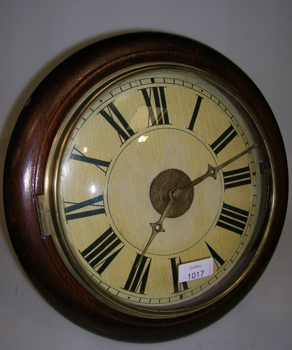 1017: A 19TH CENTURY BLACK FOREST ALARM CLOCK