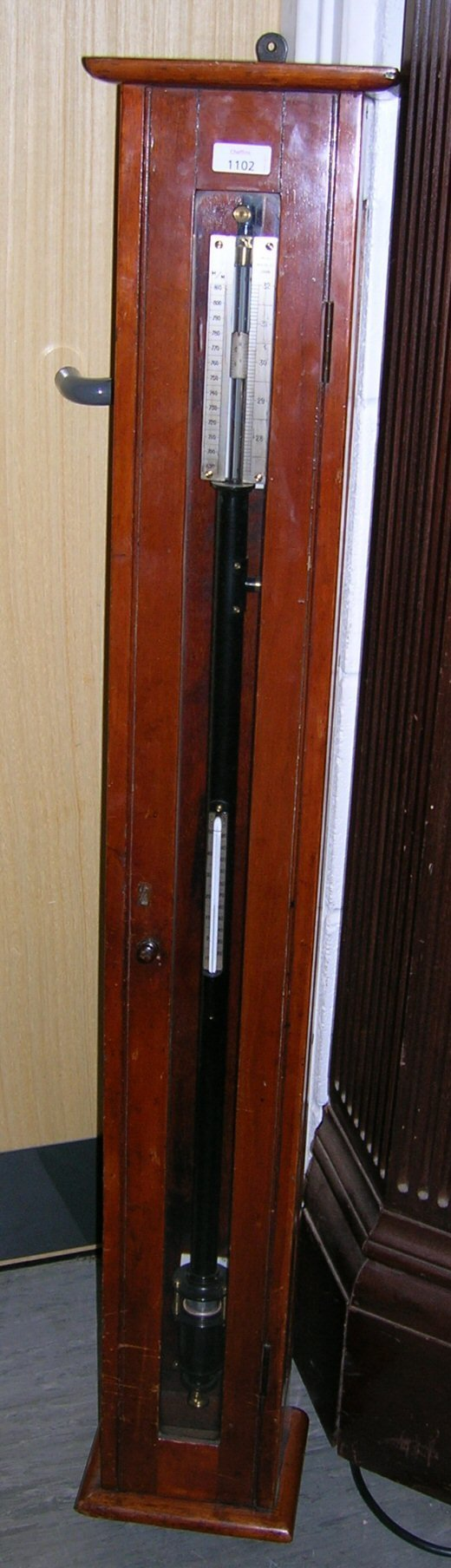 1102: A SCIENTIFIC STICK BAROMETER BY TOWSON MERCER &