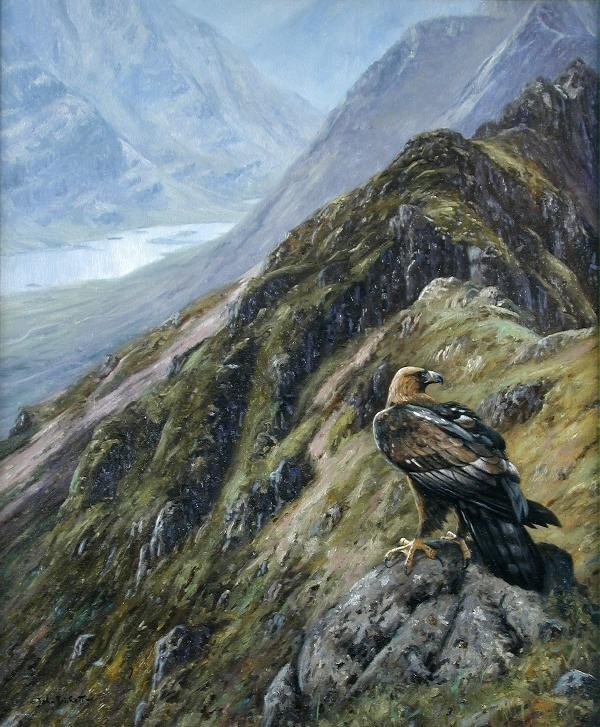 1023: JOHN TRICKETT (20TH CENTURY)  GOLDEN EAGLE