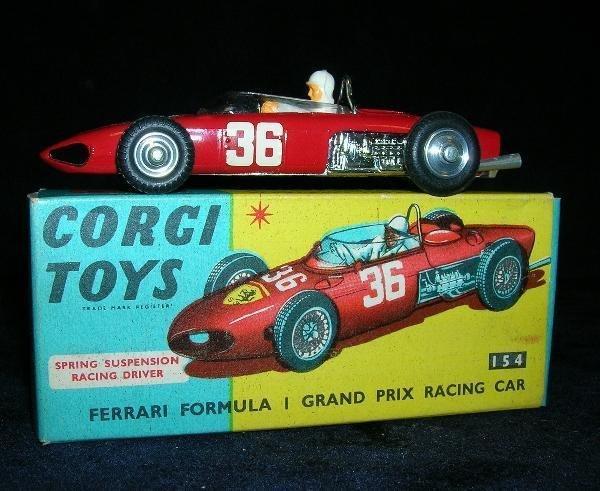 2005: CORGI 154 FERRARI RACING CAR, VERY GOOD, BOXED