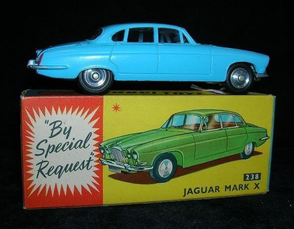 2007: CORGI 238 JAGUAR MARK X, PALE BLUE WITH RED