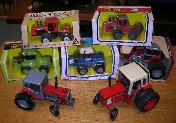 2024: ERTL. FOUR FOUR-WHEEL-DRIVE MODEL TRACTORS