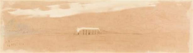 Edward Lear (British, 1812-1888) El Koorneh, Egypt