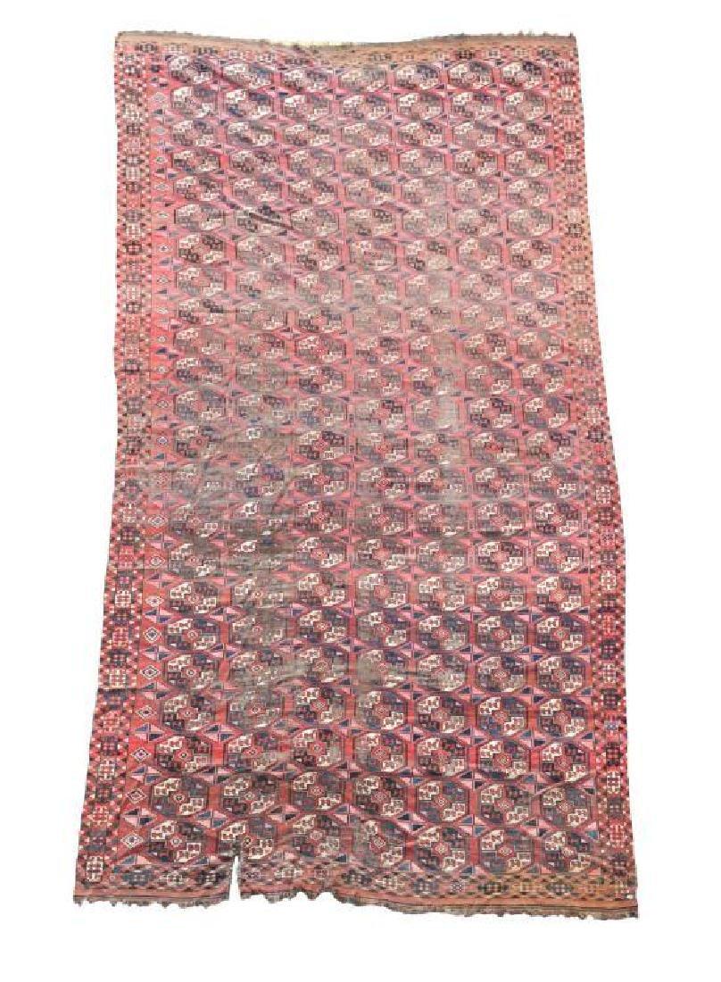 A large Turkoman carpet,