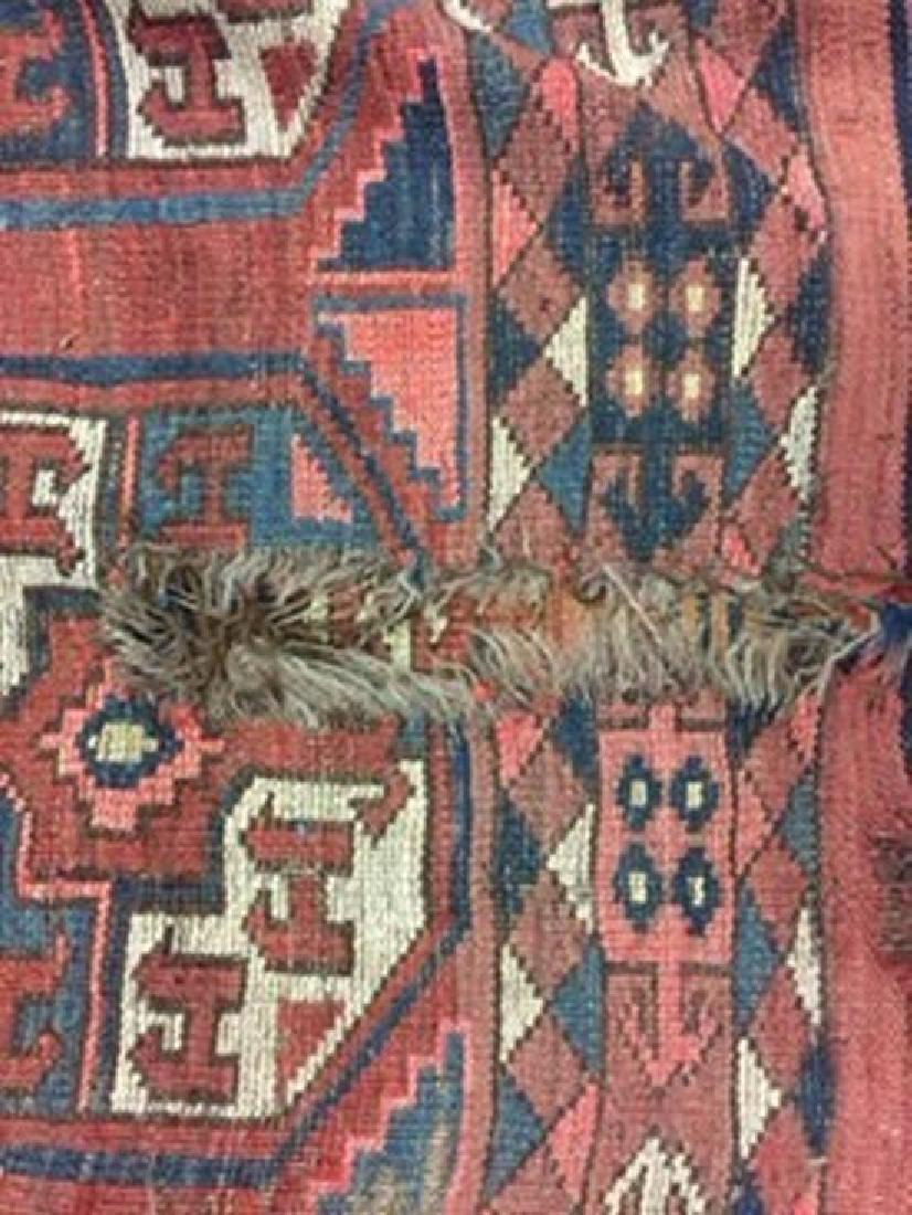 A large Turkoman carpet, - 2