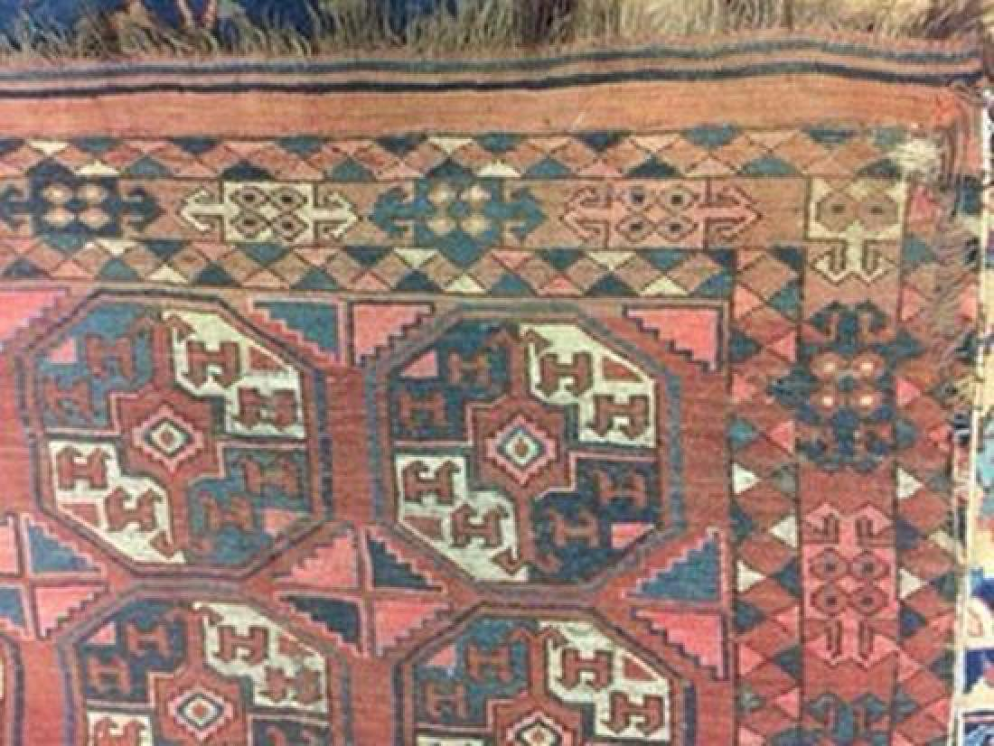 A large Turkoman carpet, - 3