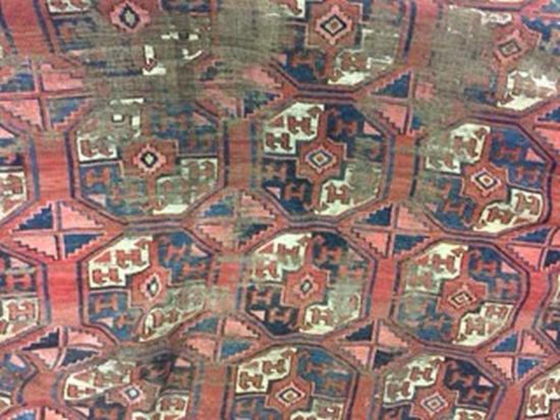 A large Turkoman carpet, - 4