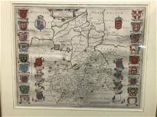 Joan Blaeu Cantabrigiensis comitatus Cambridgeshire