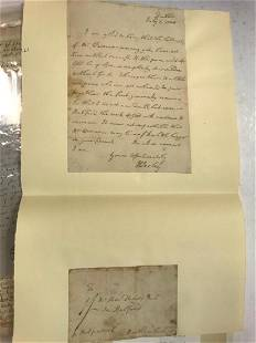 A small collection of historical letters and